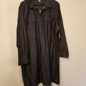 Old navy  denim shirt Dress NWTs